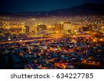 sundown in el paso  texas. | Shutterstock . vector #634227785