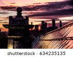 sunset at rood of bridge  view... | Shutterstock . vector #634235135
