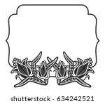 black and white outline label... | Shutterstock .eps vector #634242521