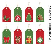 Red And Green Christmas Tags...