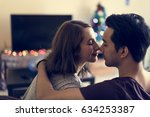 couple dating happiness...   Shutterstock . vector #634253387