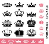 crown icons set. illustration... | Shutterstock .eps vector #63425518
