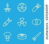 atomic icons set. set of 9... | Shutterstock .eps vector #634264049
