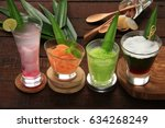 traditional javanese cold... | Shutterstock . vector #634268249