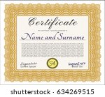 orange certificate of... | Shutterstock .eps vector #634269515
