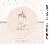 adorable baby shower template... | Shutterstock .eps vector #634278305
