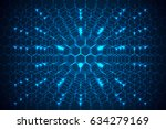 abstract technology concept... | Shutterstock .eps vector #634279169