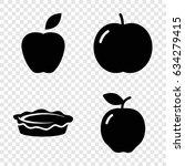 apple icons set. set of 4 apple ... | Shutterstock .eps vector #634279415