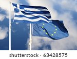 Flags Of Greece And European...