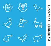 animal icons set. set of 9...