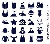 top icons set. set of 25 top... | Shutterstock .eps vector #634288115