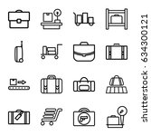 baggage icons set. set of 16... | Shutterstock .eps vector #634300121