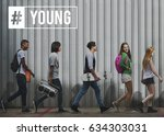 hashtag young attitude youth... | Shutterstock . vector #634303031
