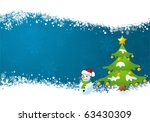 christmas frame with tree and... | Shutterstock .eps vector #63430309