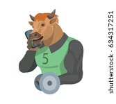 bull is calling on a cell phone