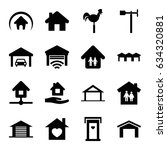 roof icons set. set of 16 roof... | Shutterstock .eps vector #634320881