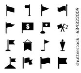 pennant icons set. set of 16... | Shutterstock .eps vector #634322009