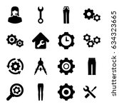 technical icons set. set of 16... | Shutterstock .eps vector #634323665