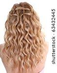 curly female hair over white... | Shutterstock . vector #63432445