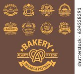 bakery gold badge icon fashion... | Shutterstock .eps vector #634328291