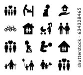 mother icons set. set of 16... | Shutterstock .eps vector #634328465