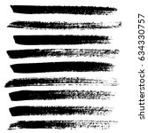 ink vector brush strokes.... | Shutterstock .eps vector #634330757