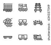 train icons set. set of 9 train ...   Shutterstock .eps vector #634337549