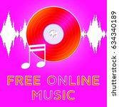 free online music dvd... | Shutterstock . vector #634340189