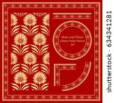 vintage chinese frame pattern... | Shutterstock .eps vector #634341281