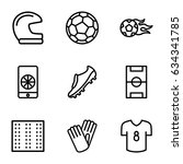 football icons set. set of 9... | Shutterstock .eps vector #634341785