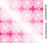 magic white flower on a pink...   Shutterstock . vector #634344929