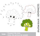 funny broccoli. dot to dot... | Shutterstock .eps vector #634346231