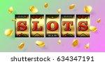 slot machine gambling game... | Shutterstock .eps vector #634347191