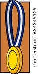 gold medal | Shutterstock .eps vector #634349129