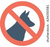 no pets vector icon  | Shutterstock .eps vector #634350581