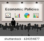 economic policies meaning... | Shutterstock . vector #634354877