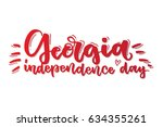 georgia independence day.... | Shutterstock .eps vector #634355261