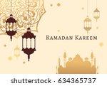 ramadan kareem celebrate...   Shutterstock .eps vector #634365737