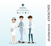 young man patient has accident  ...   Shutterstock .eps vector #634367405