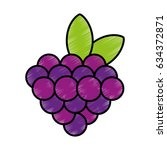 grapes fruit isolated icon | Shutterstock .eps vector #634372871