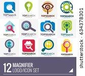 magnifying glass inspection... | Shutterstock .eps vector #634378301