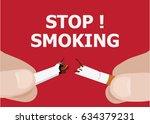 stop smoking vector icon | Shutterstock .eps vector #634379231