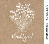 Thank You Card With A Bouquet...
