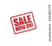 sale now on grunge stamp effect ... | Shutterstock .eps vector #634382279