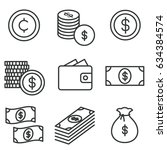 money icon set | Shutterstock .eps vector #634384574