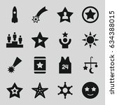 star icons set. set of 16 star... | Shutterstock .eps vector #634388015