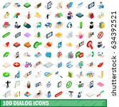 100 dialog icons set in...