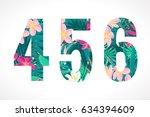 vector alphabet set. retro... | Shutterstock .eps vector #634394609