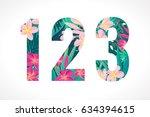 vector alphabet set. retro... | Shutterstock .eps vector #634394615