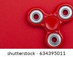 fidget finger spinner stress ...   Shutterstock . vector #634395011